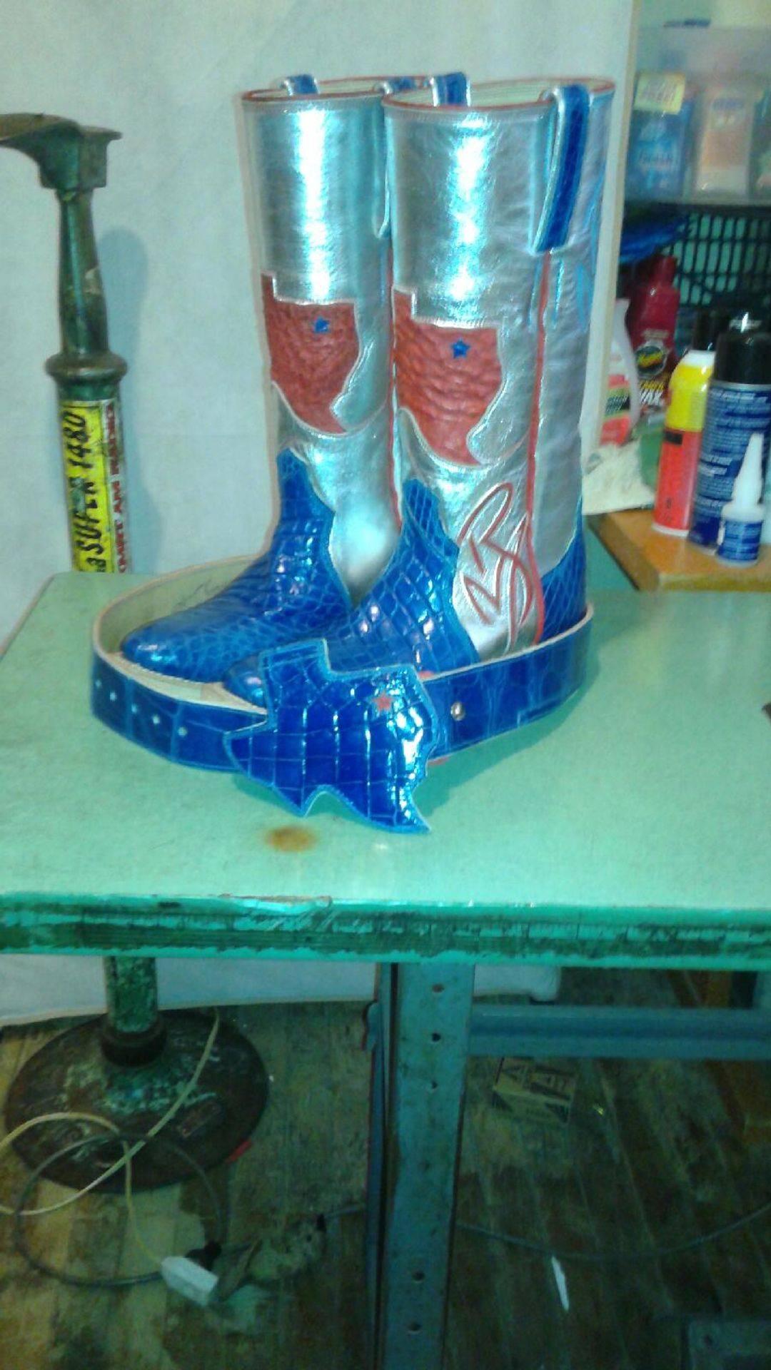 Handmade Custom Boots in progress